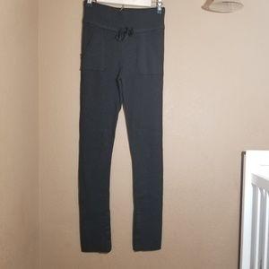 Lululemon || high waist gray ribbed skinny pants